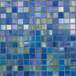 Blue mosaic texture - Stock Photo