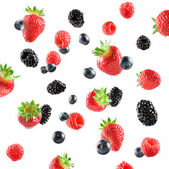 Fresh Berries explosion — Stock Photo