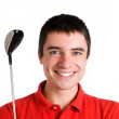 Stock Photo: Smiling golf player