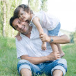 Father and daughter outdoor — Stock Photo