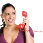 Surprising phone call — Stock Photo
