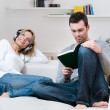 Young couple relaxing together - Stock Photo