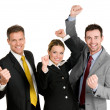 Foto Stock: Successful business team celebration