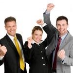 úspěšného obchodního týmu celebration — Stock fotografie