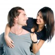 Young couple have fun with love together — Stock Photo #12658109
