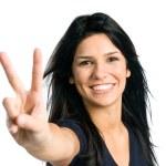 mujer latina joven feliz — Foto de Stock