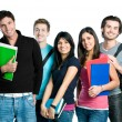Smiling teenager students - Stock Photo