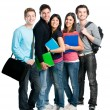 Smiling happy student group — Stock Photo