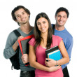 Smiling happy students - Stock Photo