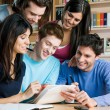 Students studying and working together — Stock Photo #12658159