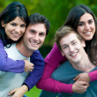 Smiling happy young couples — Stock Photo #12658269