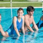 Aqua bike in a swimming pool — Stock Photo