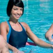 Aqua gym fitness exercise - Stock Photo