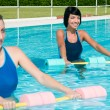 Stock Photo: Aqugym fitness exercise