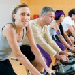 Spinning excercise - Stock Photo