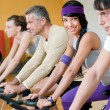 Spinning at the gym — Stok fotoğraf