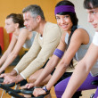 Spinning at the gym — Stockfoto