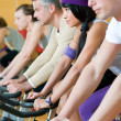 Spinning excercise group — Stock Photo