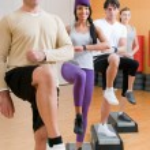 Постер, плакат: Healthy doing exercises at gym