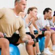 Fitness exercises at gym - Stock Photo