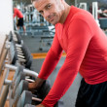 Mature man at gym — Stock Photo #12659102
