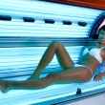 curtido en el solarium — Foto de Stock