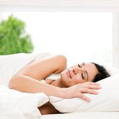 Beautiful woman sleeping — Stock Photo