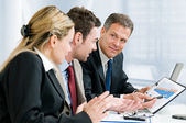 Business team and growing chart — Foto Stock