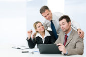 Business partnership and cooperation — Stock Photo