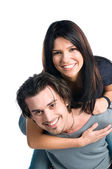Happy smiling teenager couple — Stock Photo