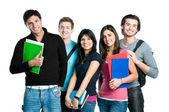 Usmívající se dospívající studenty — Stock fotografie