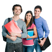 Happy smiling students group — Stock Photo