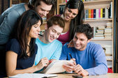 Students studying and working together — Stock Photo