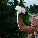 Refreshment during sport training — Stock Photo