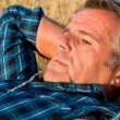 Mature man relax - Stock Photo