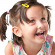 Joyful litle girl portrait — Stock Photo