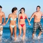 giovani amici godono l'estate — Foto Stock