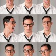 Nerd expressions - Stock Photo