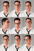 Nerd expressions — Stock Photo