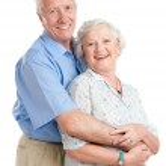 Happy smiling aged couple — Stock Photo