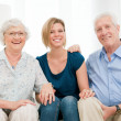 Joyful happy family - Stock Photo