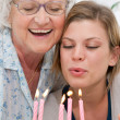 Birthday celebration with grandma — Stock Photo #12760656