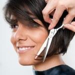 Cutting hair — Stock Photo