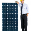Stock Photo: Business with solar energy