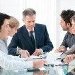 Business work in group - Foto Stock