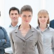 Proud businesswoman in group — Stock Photo