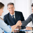 Successful business interview - Stock Photo