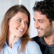 Stock Photo: Happy couple expression