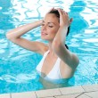 Summer relax at pool — Stock Photo #12767734