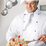 シェフのパスタ料理 — ストック写真
